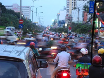 New Traffic in old infrastructre Ho Chi Ming city