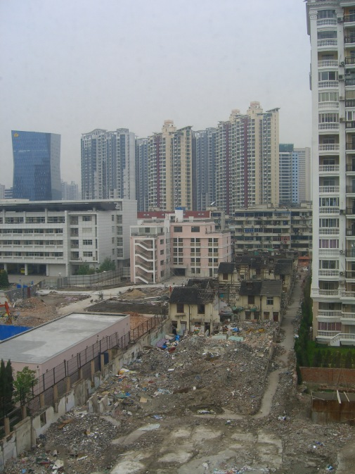 Shanghai changing urban landscape