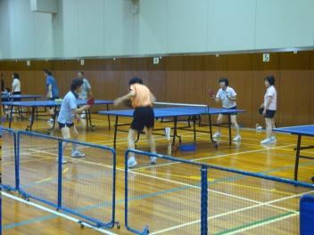 Keeping fit playing tabel tennis